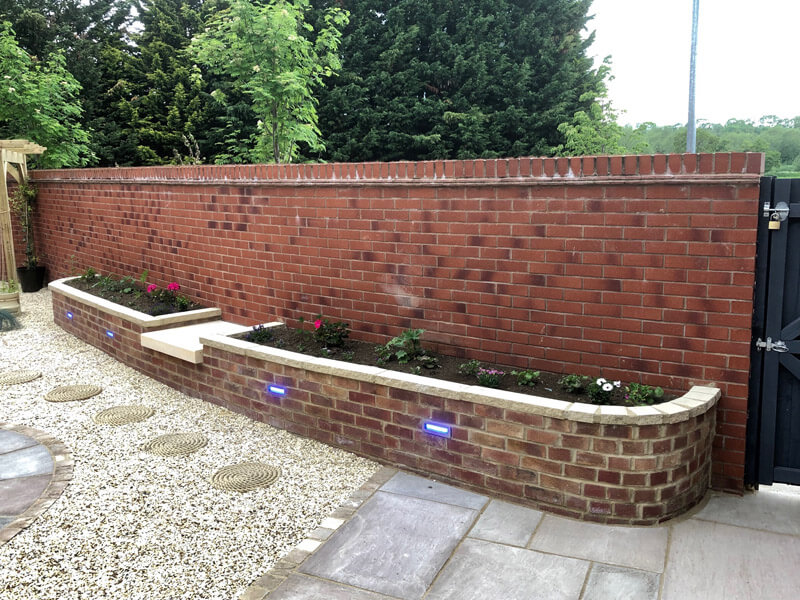 R Parker walling in Worcestershire